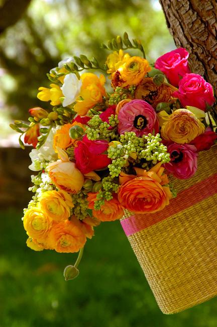 Λουλούδια και φράουλες